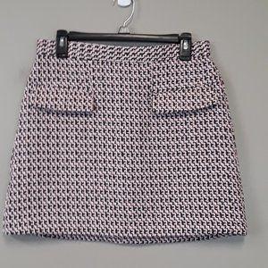 Topshop Hounds Tooth tweet Mini Skirt Size 8